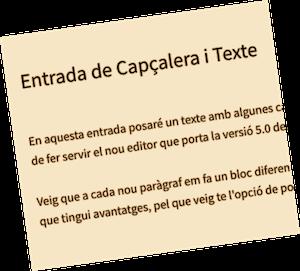 Capçalera i texte